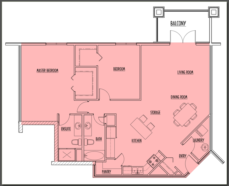 Large view of Suite Type B
